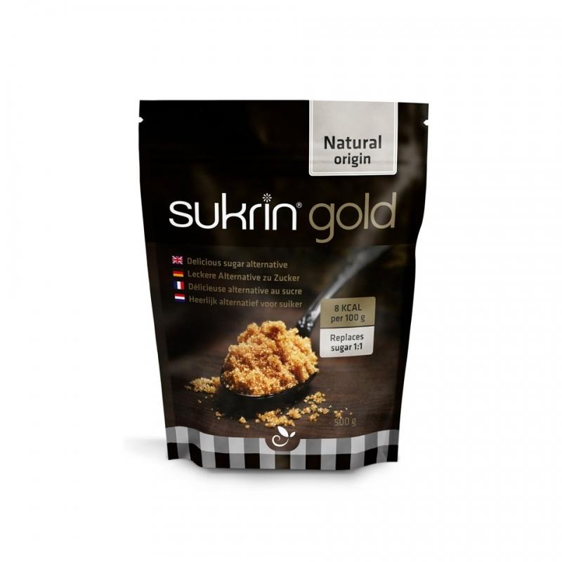 SUKRIN GOLD-ΦΥΣΙΚΟ ΓΛΥΚΑΝΤΙΚΟ 500γρ. -  το μοναδικό που αντικαθιστά απόλυτα την καστανή ζάχαρη.