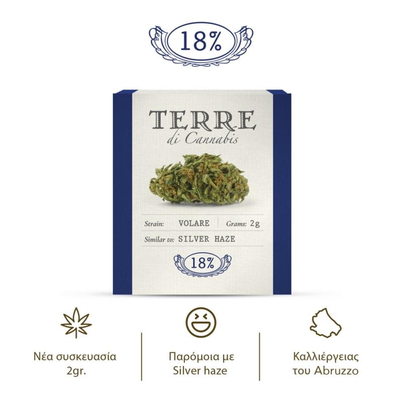VOLARE Ανθοί Κάνναβης 2γρ - Terre di Cannabis CBD 18%