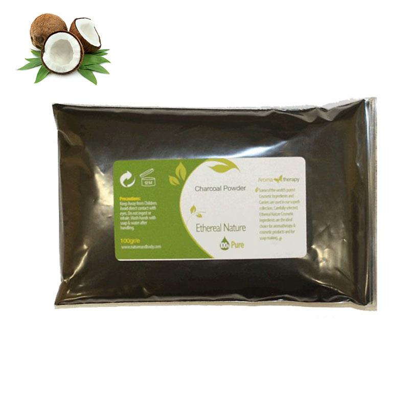 Σκόνη ενεργού άνθρακα από κοκοφοίνικα 50γρ. (καλλυντική χρήση)