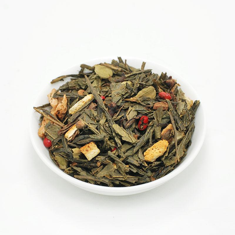 """ΧΡΙΣΤΟΥΓΕΝΝΙΑΤΙΚΗ ΜΕΛΩΔΙΑ, πράσινο τσάι Κίνας με """"μυρωμένο"""" μήλο πορτοκάλι & μπαχαρικά!"""
