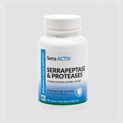 ΣΕΡΡΑΠΕΠΤΑΣΗ - ΠΡΩΤΕΑΣΗ ΣΥΣΤΗΜΙΚΑ ΕΝΖΥΜΑ SERRA ACTIV  60caps - για ανοσοποιητικό,ιγμόρεια,φλεγμονές