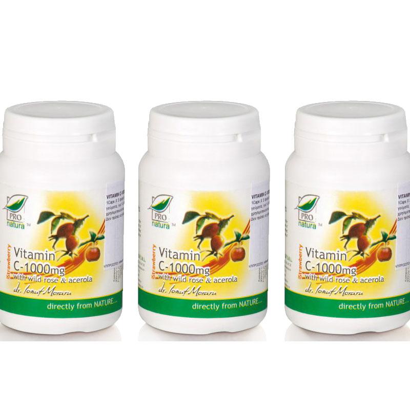 ΒΙΤΑΜΙΝΗ C® 1000mg (ασκορβικό οξύ με Acerola & Rosehip) 60 Caps